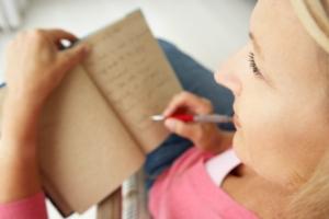 Joys of Journaling Woman Journaling